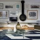 Architect's own home, London W11 / Living space