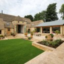 Vale Farm Barn Conversion / External view of courtyard