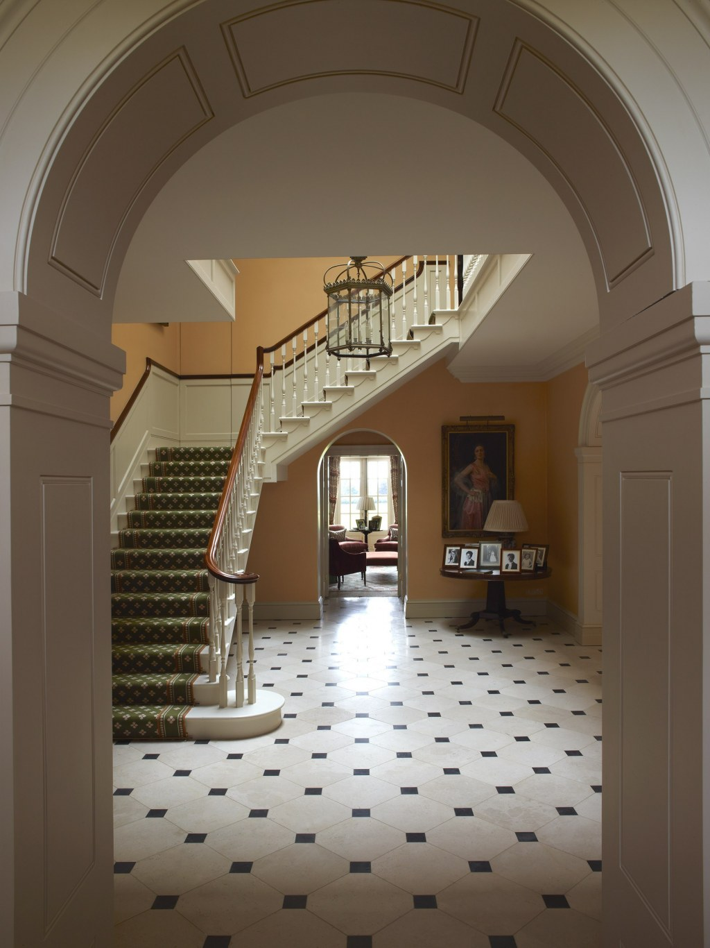 Replacement Manor House / Entrance hall and staircase