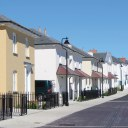 New housing development at Tregunnel Hill near Newquay / Street view (02)