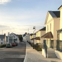 New housing development at Tregunnel Hill near Newquay / Street view (06)