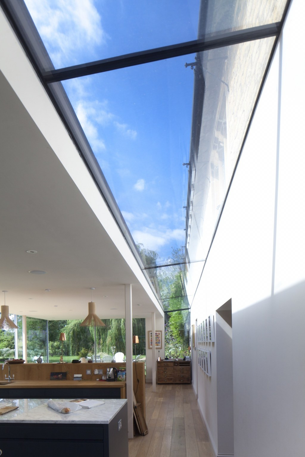 Contemporary Extension / Glazed roof