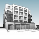 Upper Clapton Road / perspective front elevation