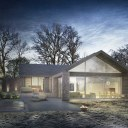 Green Belt Bungalow remodelling / Garden facing aspect