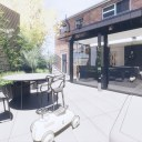 Moder House Extension, Twyning / Perspective View 01