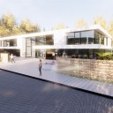 Modern House in rural Location / Perspective View 04