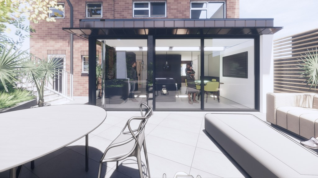 Moder House Extension, Twyning / Perspective View 04