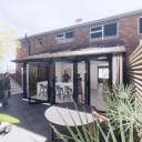 Moder House Extension, Twyning / Perspective View 05