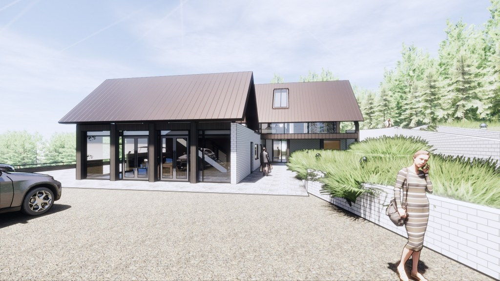 House in the Woods / Perspective View 04
