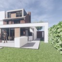 Modern House Extension and Alterations / Perspective View 01