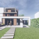 Modern House Extension and Alterations / Perspective View 02