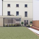 Single storey house extension / Perspective View 04
