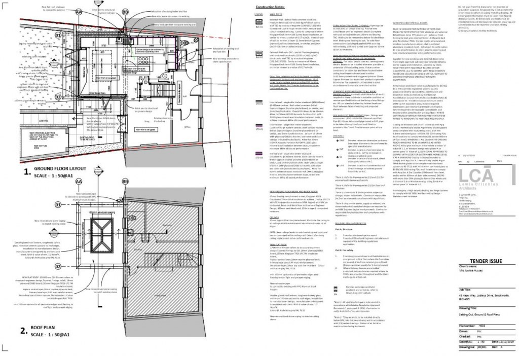 Single storey house extension / Ground Floor Plan