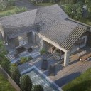 Green Belt Bungalow remodelling / Aerial view