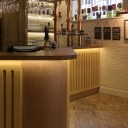 The Plough, Central Oxford / Bespoke ground floor bar with handmade brass flow pipes