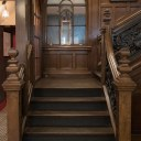 The Plough, Central Oxford / Refurbished listed staircase between ground and first floor restaurants