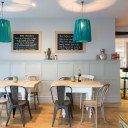 The Oxford Wine Cafe, Jericho / Back bar with large tables and communal seating