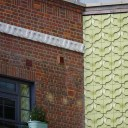 The Market Building, Brentford / Detail of exterior, 1950s style, concrete tiles