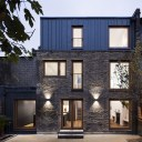 Elfort Road House / Rear Elevation at dusk.