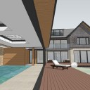 New Build House & Pool / Concept model image 1