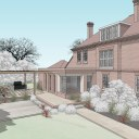 Rectory extension and refurb / Design model of extension and outdoor living
