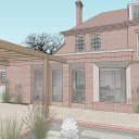 Rectory extension and refurb / Design model of extension and outdoor living 2