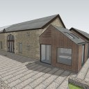 Barn Extension and Refurb / Extension alongside the existing stone barn