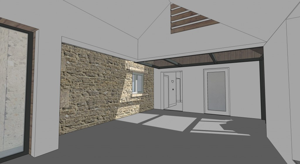 Barn Extension and Refurb / Extension internal space